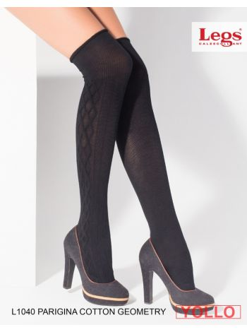 L1040 PARIGINA COTTON GEOMETRY LEGS L1040 Гольфы