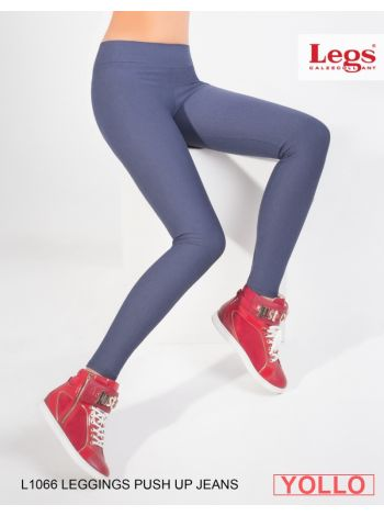 L1066 LEGGINGS PUSH-UP JEANS LEGS L1066 Леггинсы