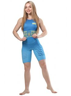 Трико для борьбы WRESTLER WOMENS APPROVED UWW blue Berserk 900243 Трико женское