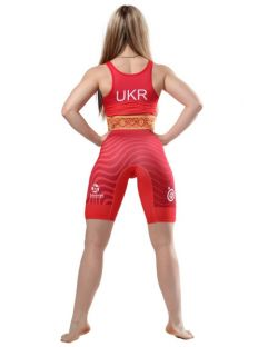 Трико для борьбы WRESTLER WOMENS APPROVED UWW red Berserk 900178 Трико женское